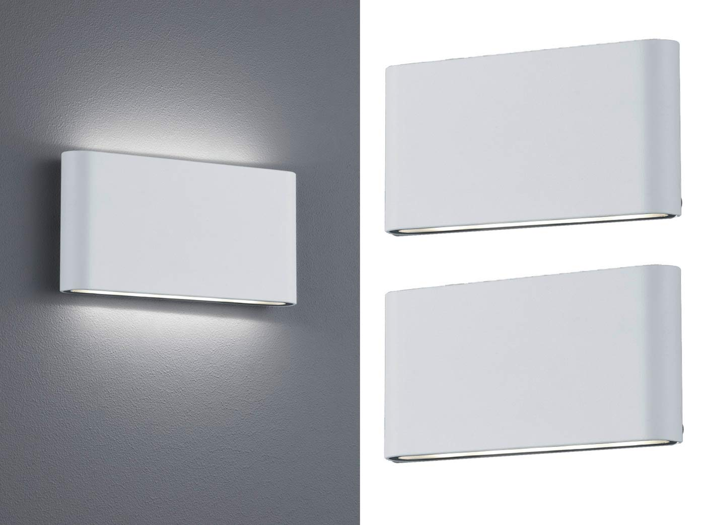 Lot de 2 led applique murale up & down thames blanc 17 5 cm pour