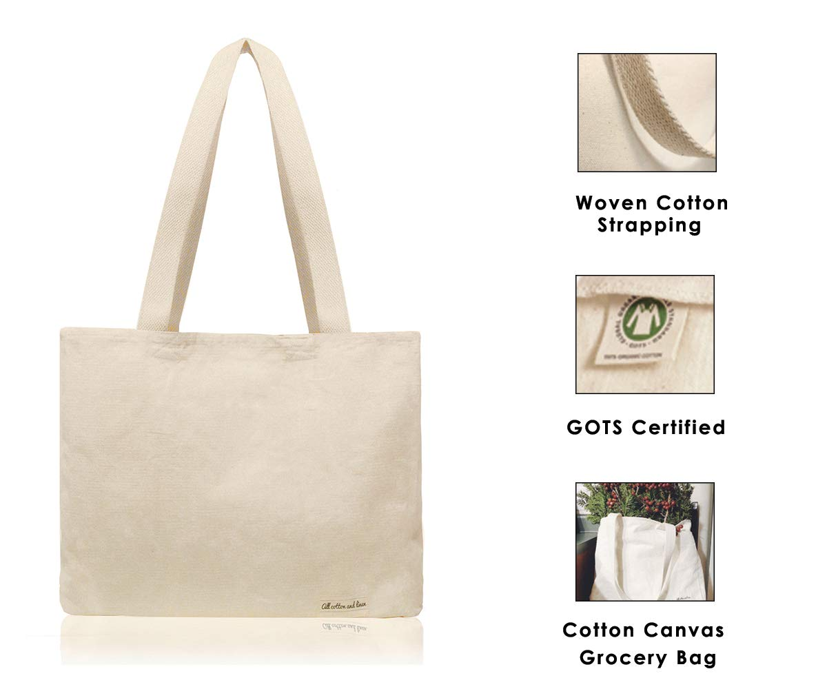 beb71a77a9db Cotton Designer Tote Bags - Reusable Shopping Bags - Clothes Grocery Bag -  Tote - Large Reusable Grocery Bags - Organic Cotton Cloth Bag - Cotton ...