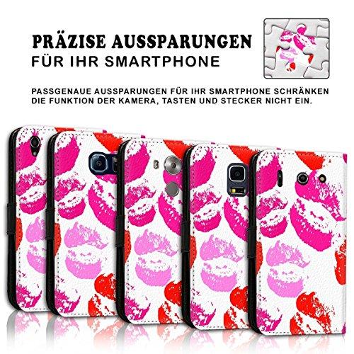 Wallet Book Style Flip Handy Tasche Case Schutz Hülle Schale Motiv Etui für Apple iPhone 6 Plus / 6S Plus - Design Flip MVD193