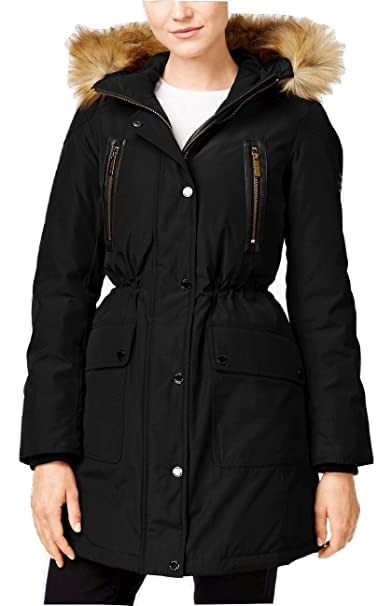 ffa5df67a MICHAEL Michael Kors Hooded Faux-Fur-Trim Down Anorak Jacket (L ...