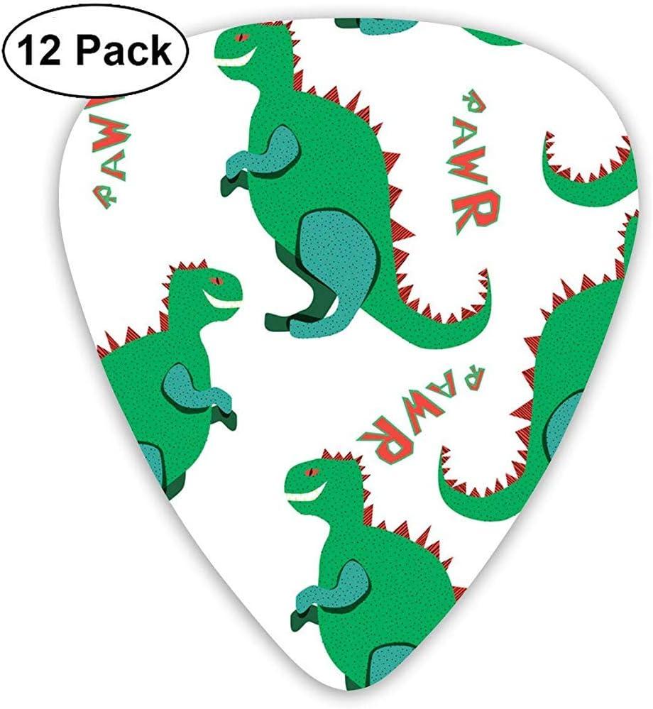 12 Pack Green Dinosaurs Rawr Guitar Picks Juego completo de regalo para guitarrista: Amazon.es: Instrumentos musicales