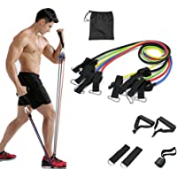 PGY Resistance Bands Set with Handles 11 Packs, Door Anchor, Ankle Straps and Workout Guide - Lxuemlu Exercise Bands for…