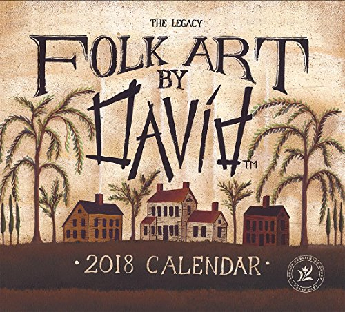Legacy Publishing Group 2018 12-Month Mini Wall Calendar, Folk Art by David