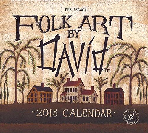 2018 12-Month Wall Calendar, Folk Art by David