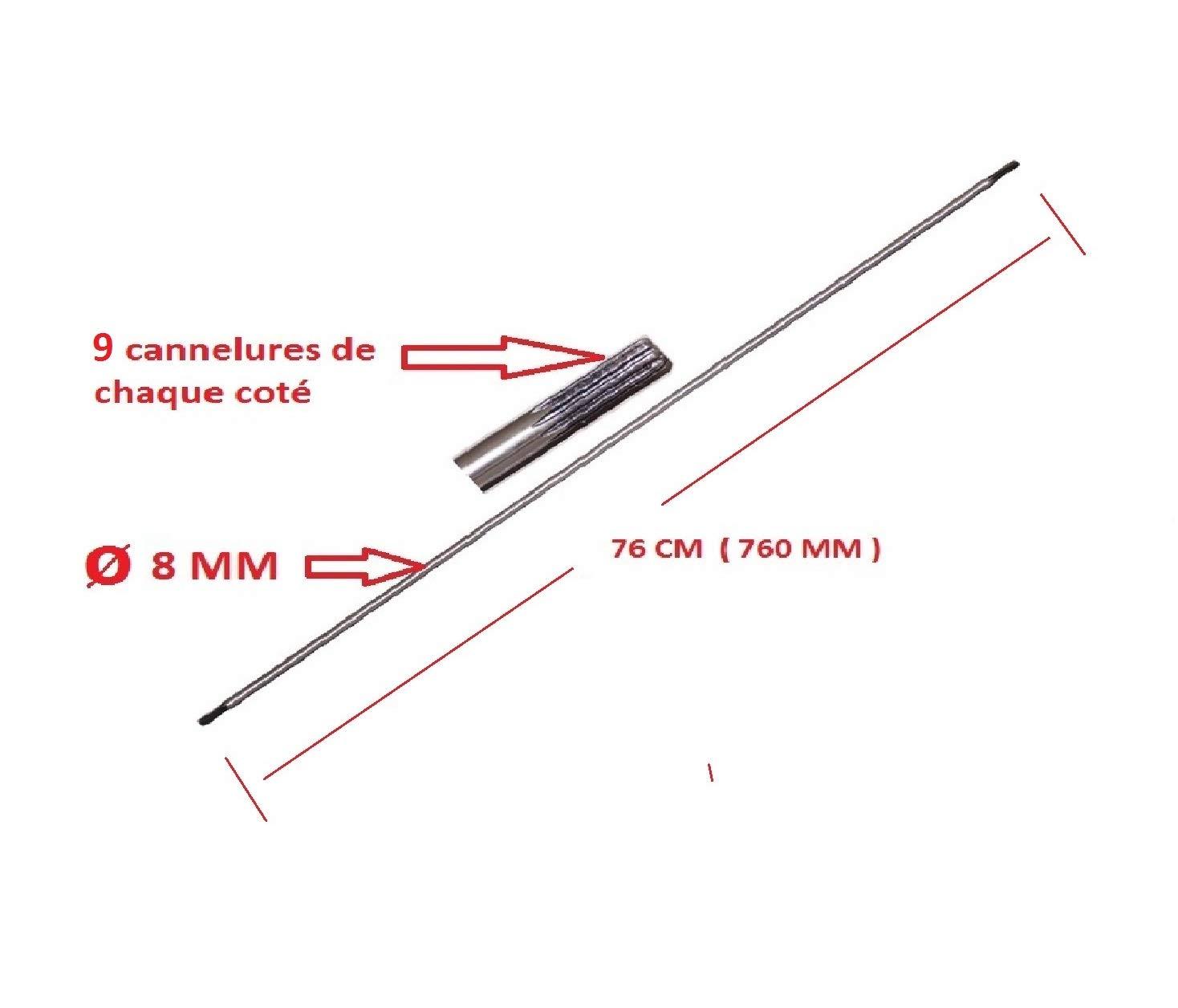 Motoculture-Online Axe de Transmission (entraînement) 9 cannelures ...
