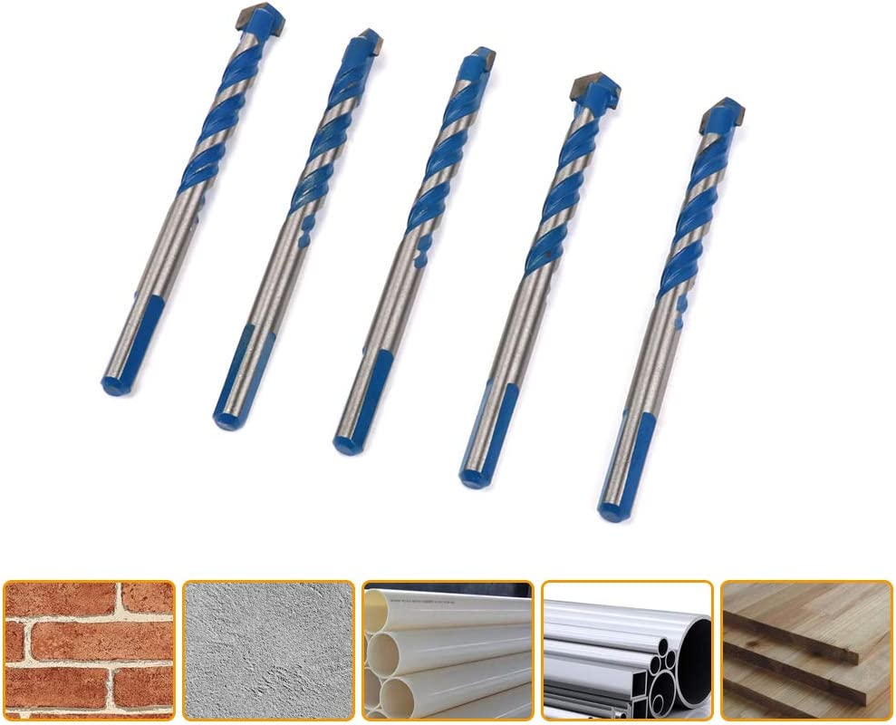 Masonry Triangle Drill Bits Set With Carbide Alloy Tip Join Ware 5Pcs 10mm 2//5 Ceramic Tile Drill Bits For Concrete Ceramic Tile Wall Brick Glass Plastic Wood