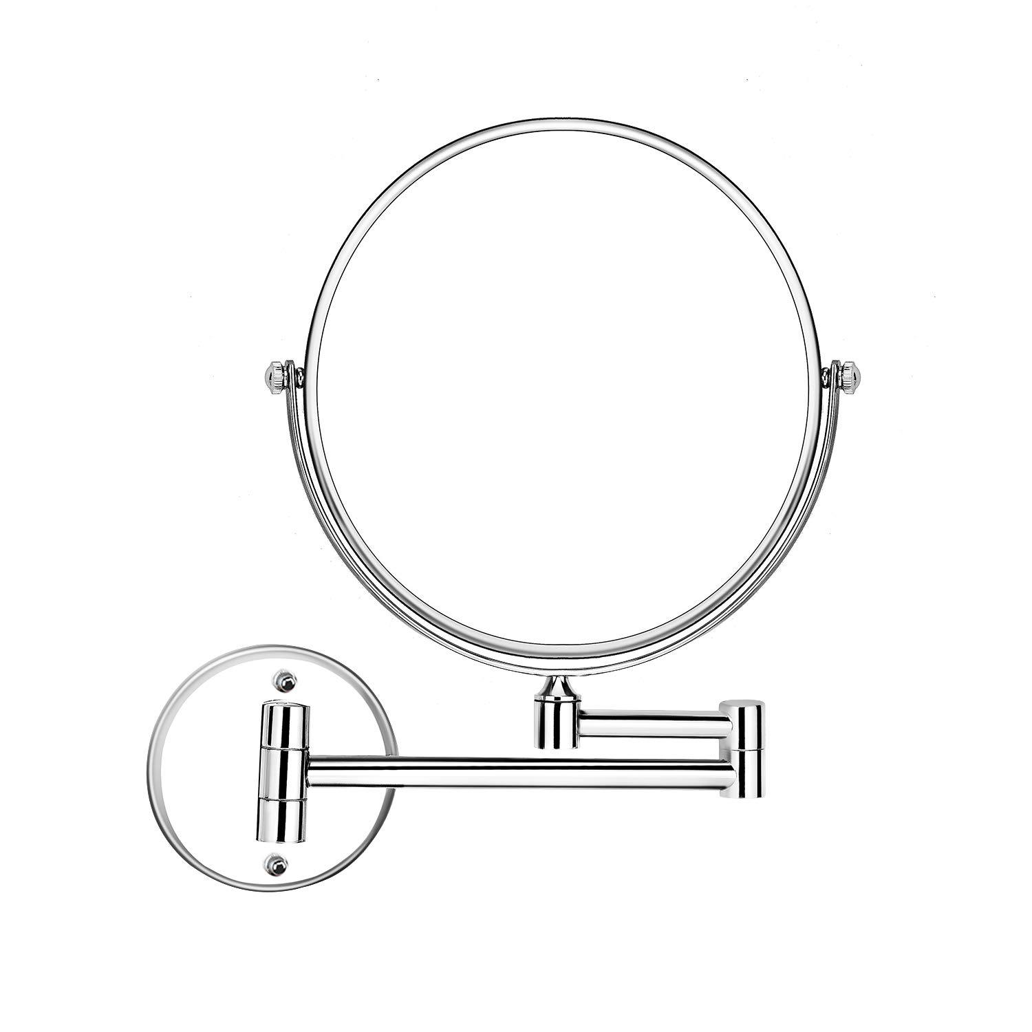 Xinyv Wall Mount Makeup Mirror Two-sided Swivel 8-Inch Magnifying Beauty Mirrors with 3x Magnification, 17.5 Inches Extension Chromium