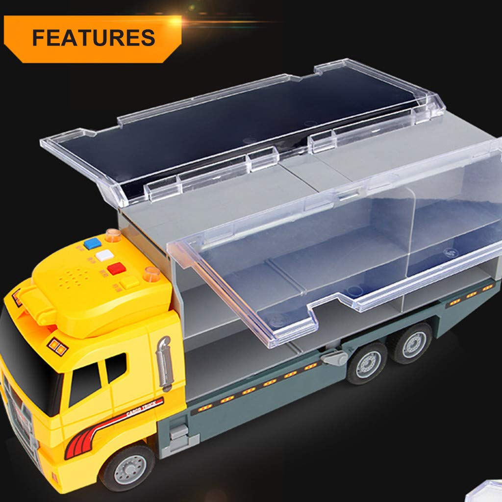 Transport Car Carrier Storage Truck Educational Vehicles Toy Car Childrens Gift Voberry