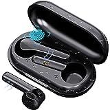 COOSEON Auriculares inalámbricos Bluetooth, Bluetooth con micrófono, Mini Auriculares, reducción de Ruido, Anti-Sudor, Entren