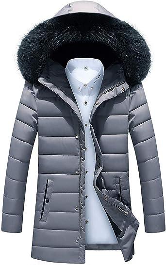 PENATE Mens Winter Warm Jacket Hooded Short Slim Waterproof Thick Coat Outwear