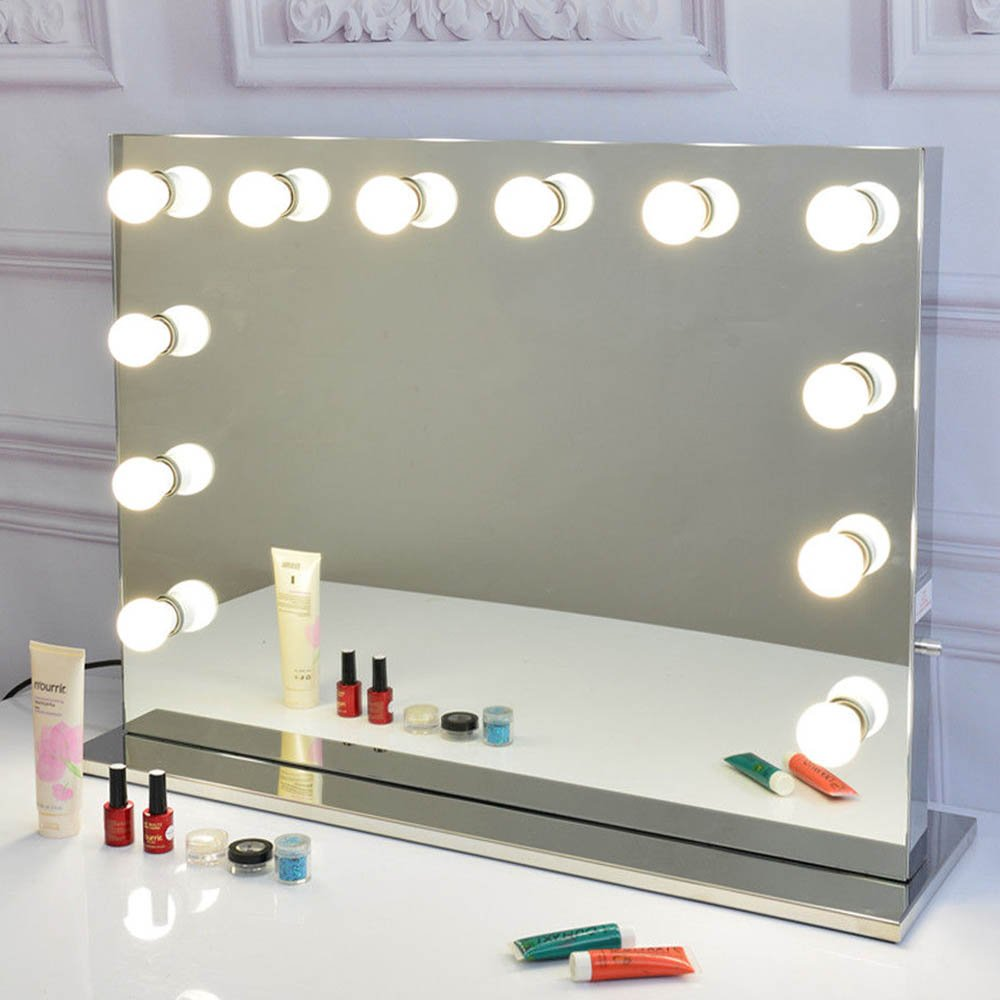 Amazon.com: Joyful Store Frameless Hollywood Vanity Mirror with ...