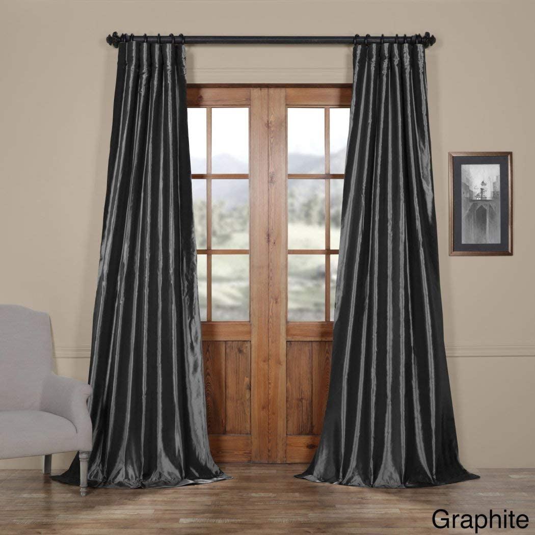 Set of 2 56X 63 Window Curtain Calix Fashion in Taupe Color