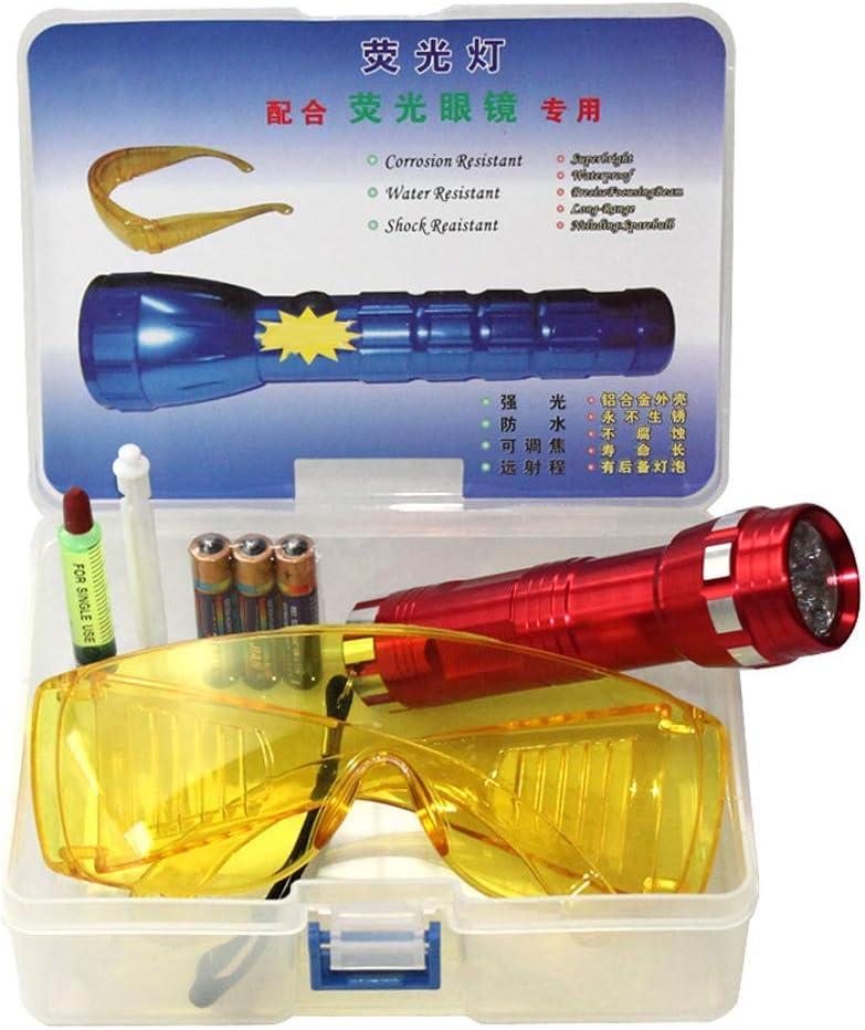 Guajave 1 Set Coche Detector de Fugas Aire Acondicionado un / C Sistema Apertura Kit Prueba LED Linterna