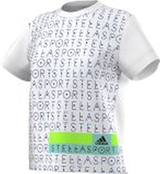 585a5f0cb19f adidas Women s by Stella McCartney Stellasport Printed T Shirt XX-Small  White