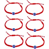 6pcs Evil Eye String Kabbalah Bracelets for Protection and Luck Hand-Woven Red Rope Cord Thread Friendship Bracelet…