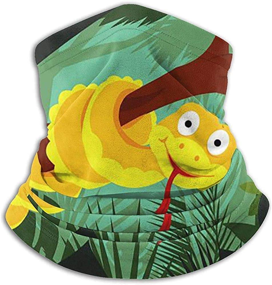 Tonesum Diadema con Cuello Dibujos Animados Anaconda en Rama Deporte al Aire Libre Pasamontañas Magia Diadema Calentador de Cuello Polaina