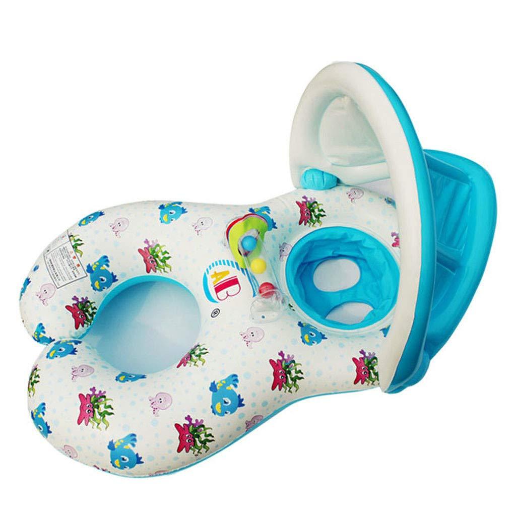 PMFS PVC BG Madre Bebé Inflable Natación Parasol Flotador ...