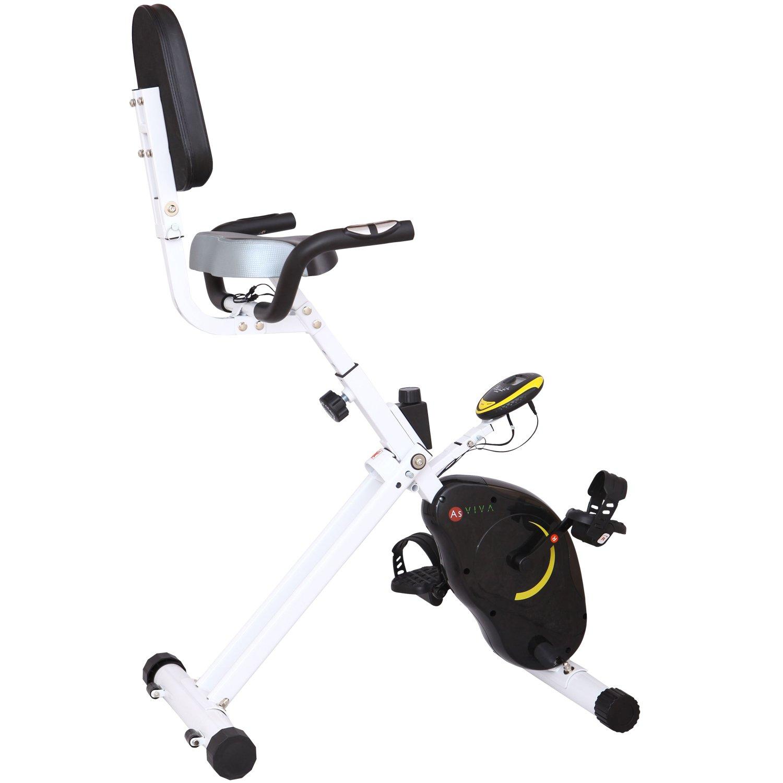 AsVIVA H16 Heimtrainer & Ergometer Cardio Sport X-Bike mit 5kg Schwungmasse, stufenloser Widerstandseinstellung, inkl. Multifunktionscomputer mit Handpulsmessung