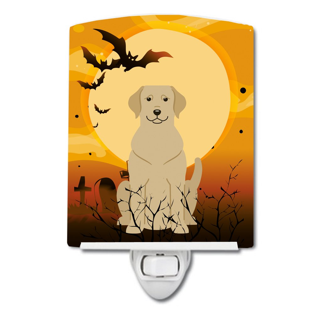 Carolines Treasures Halloween Yellow Labrador Ceramic Night Light 6x4 Multicolor