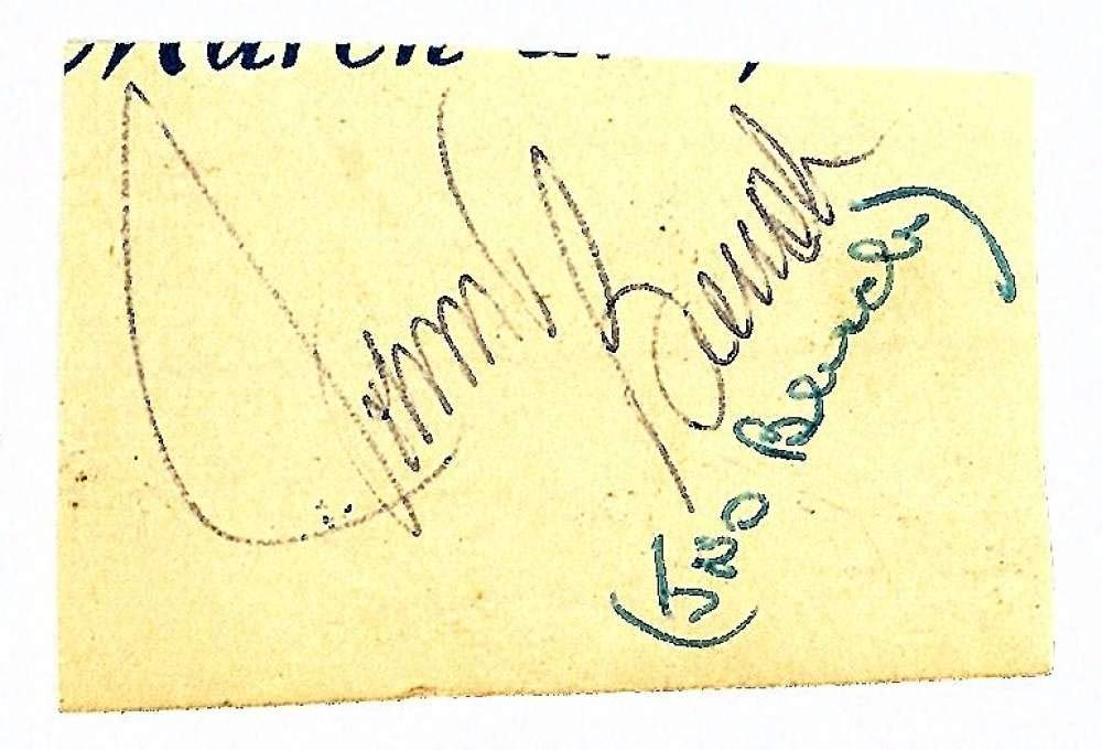 Johnny Bench Signed Autographed 1x2 Vintage Cut Signature Beckett BAS
