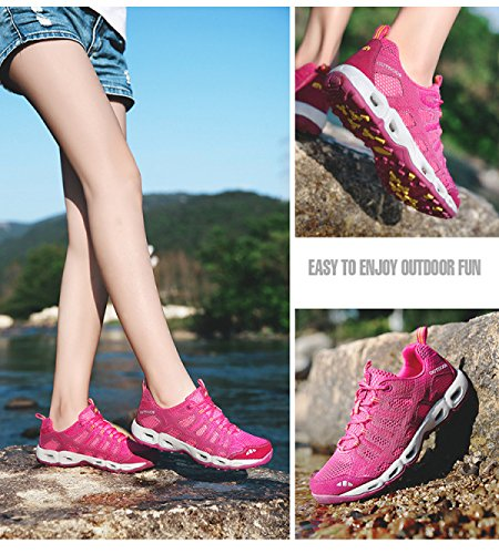 Atletismo Con Libre Cordones Aire Zapatos Acoplamiento LXXAUnisex De De Respirable Al Zapatillas Secado rose Pareja Rápido Verano xw0S8qZR