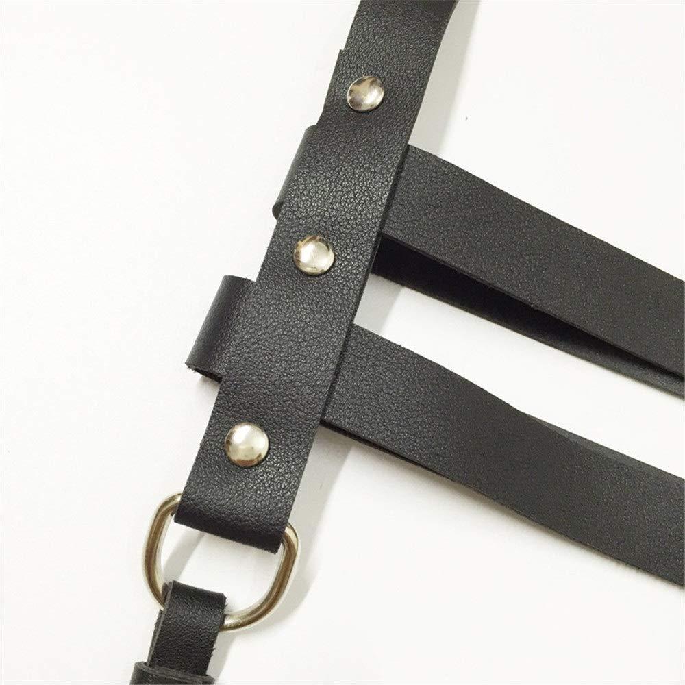 Cintura per cintura pettorale Donne punk gotico in ecopelle regolabile corpo fascia pettorale cintura fantasia cintura cintura bretelle nappa body cinture costumi discoteca Cintura per donna Cintura c