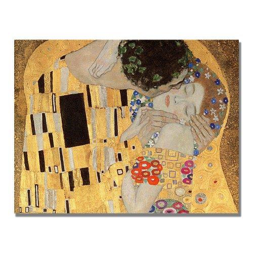 The Kiss by Gustav Klimt, 18x24-Inch Canvas Wall Art ()