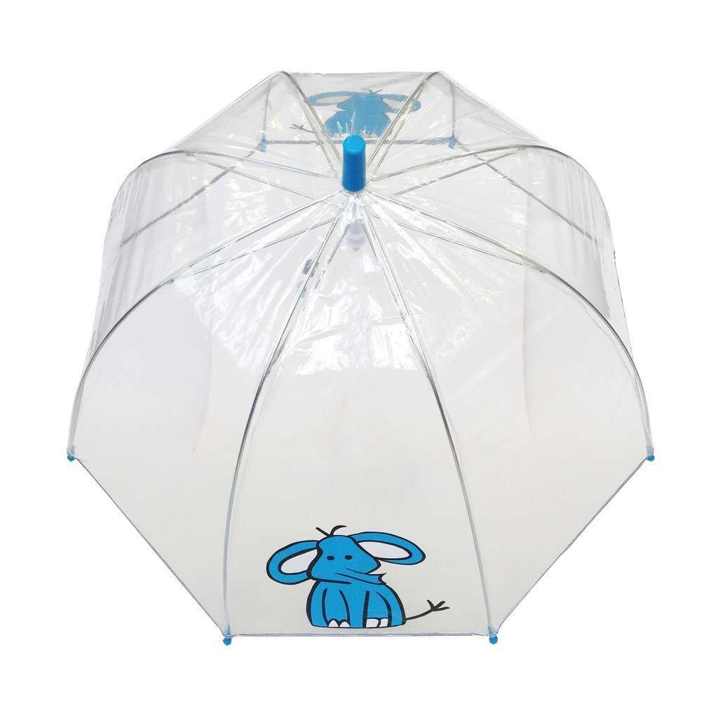 Birdcage Dome See Through Windproof SMATI Stick Clear Stars Umbrella Kids
