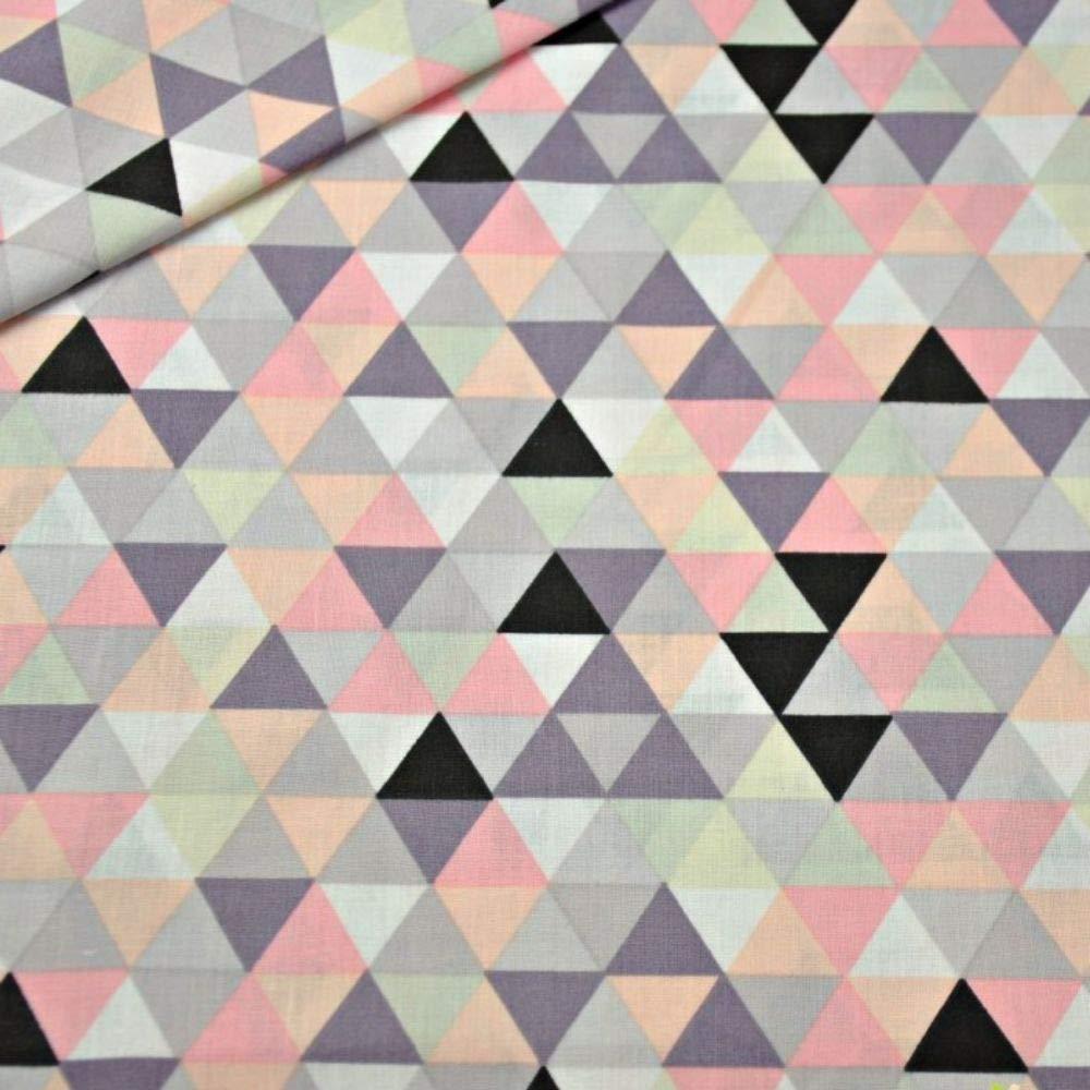 Pingianer 50 x 160 cm 15,98 /€//m Triangle Losanges 100/% Coton Tissu pour Enfant au m/ètre Fabrication Artisanale Tissu