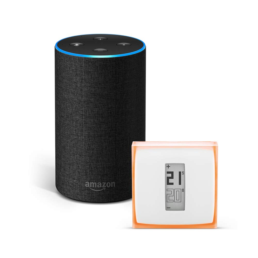Amazon Echo (2.ª generación), tela de color antracita + Netatmo...