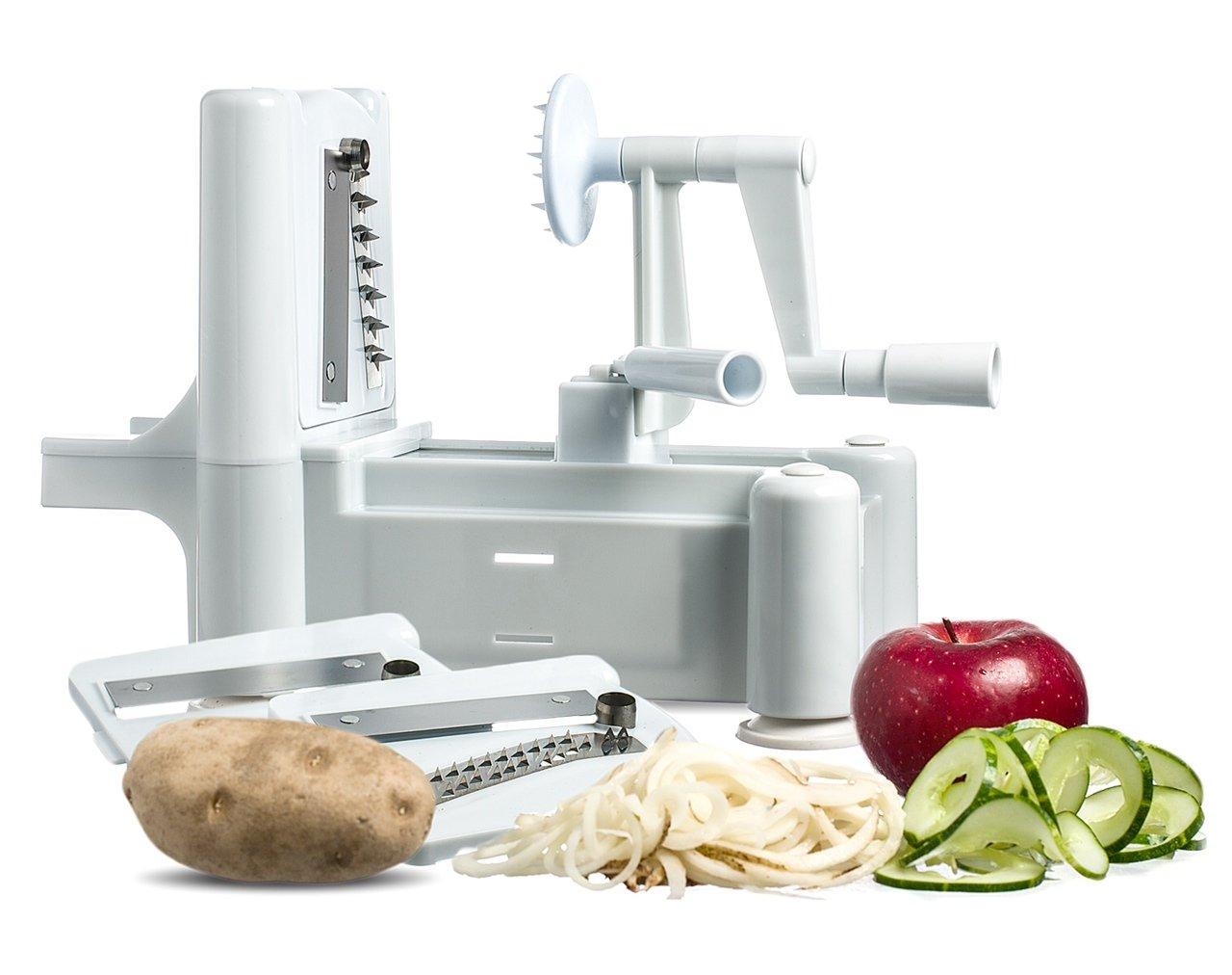 Amazon.com: New and Essential Spiralizer Tri-Blade Spiral Vegetable ...