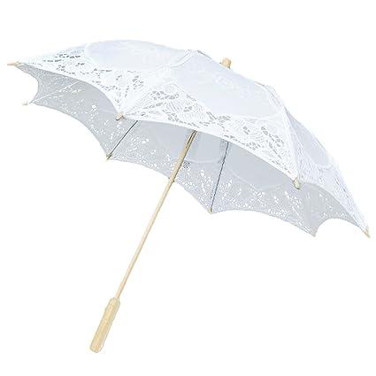 Gosear Plegable Sombrillas Encaje de Flores Chicas de Boda Nupcial de Partido de Sol Paraguas Decoracion