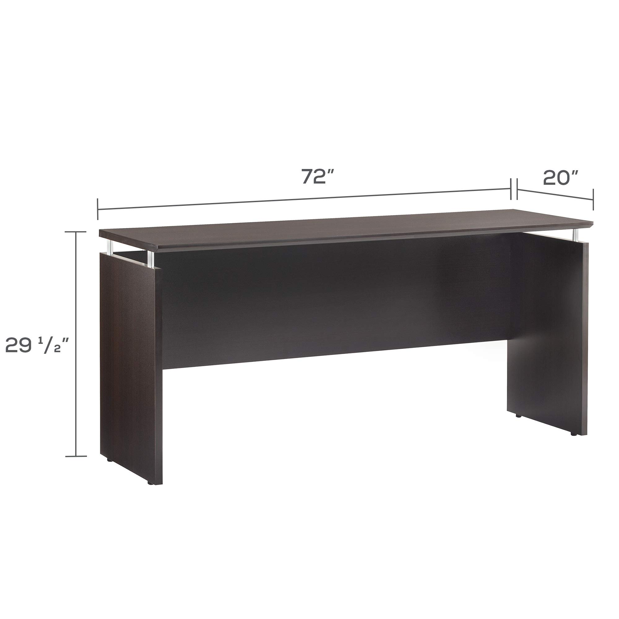 Safco Products MNCNZ72LDC Medina Credenza, 72'', Mocha by Safco Products (Image #3)