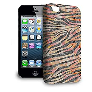 Phone Case For Apple iPhone 5 - Silver Zebra Glam Snap-On Hard