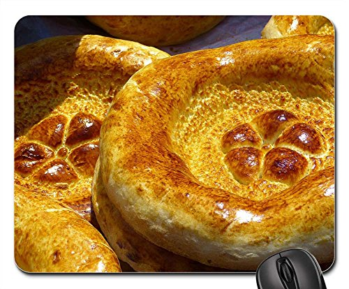 Mouse Pad - Bread Flat Bread Food Bread Stamp Uzbekistan - Rate Tracking Flat Shipping
