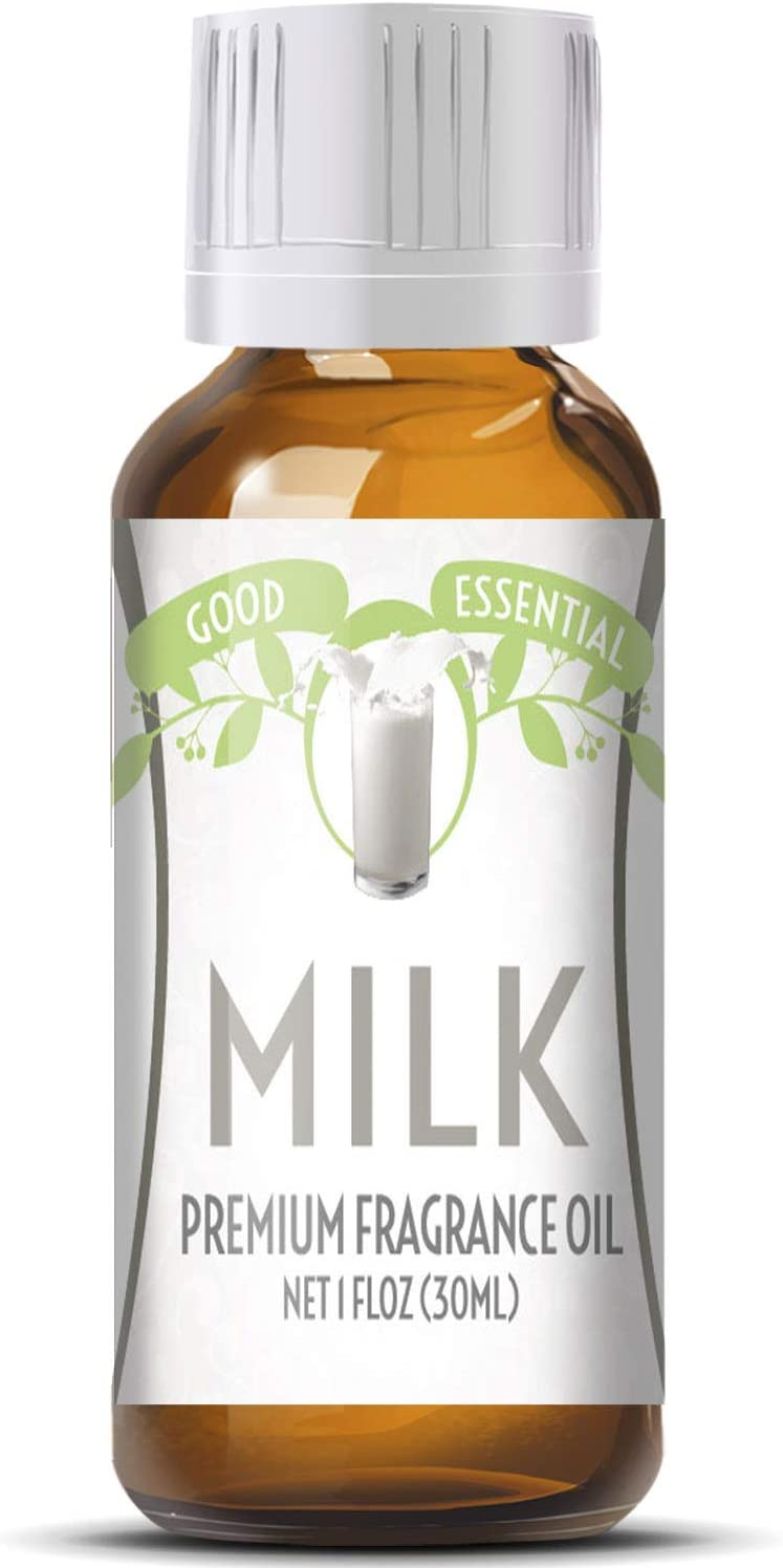 Milk Scented Oil by Good Essential (Huge 1oz Bottle - Premium Grade Fragrance Oil) - Perfect for Aromatherapy, Soaps, Candles, Slime, Lotions, and More!