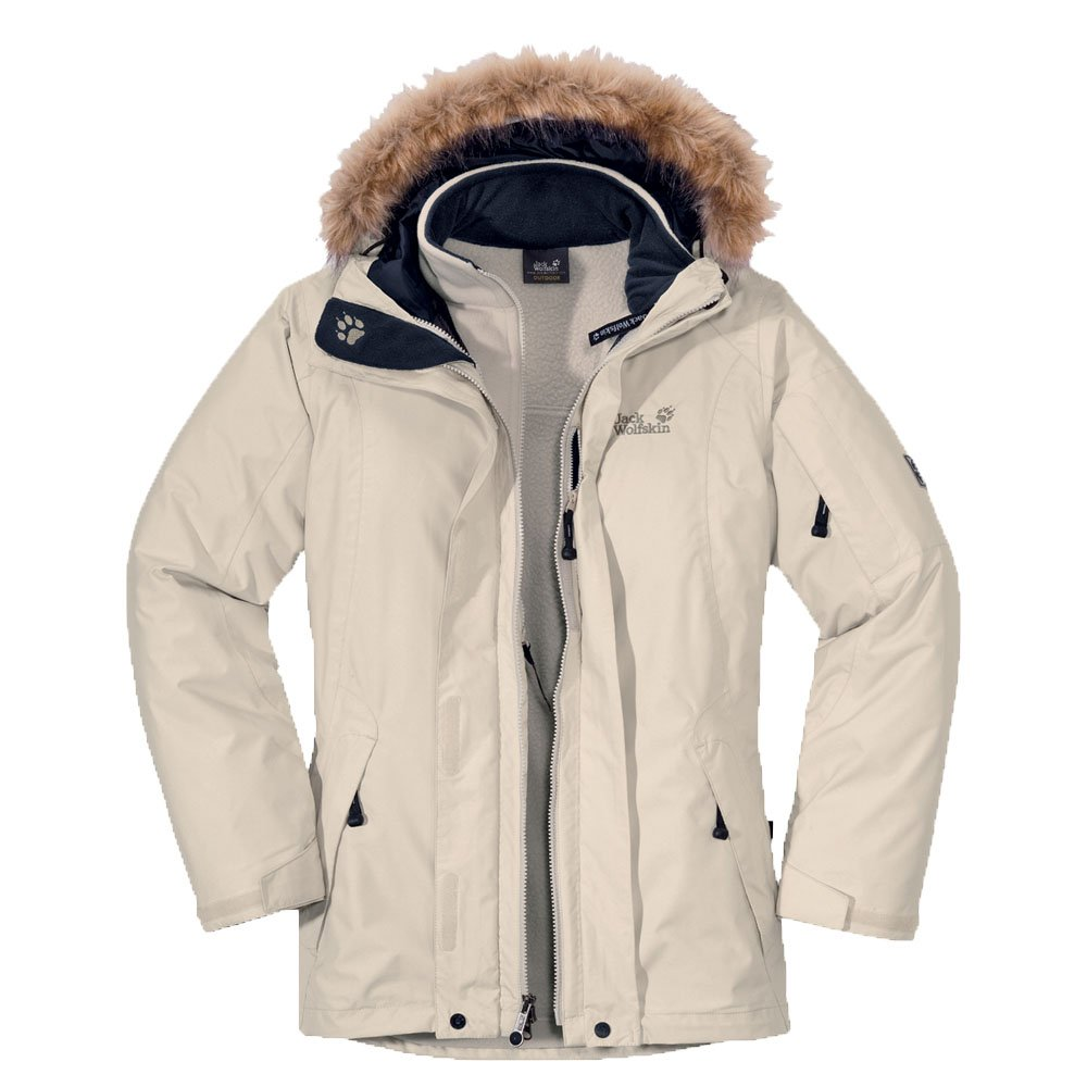 newest db905 dff95 Jack Wolfskin Ladies Savage Rose Jacket, Ivory, S ...