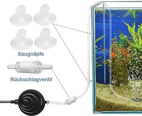 Bedee Aquarium Pumpe Aquarienpumpe Super Leise Luftpumpe 35db Air Pump Luftpumpenzubehör Mit Rückschlagventil Sauerstoffpumpe Für Aquarium Energie Sparende Für Fischbecken Und Nanoaquarien Schwarz Haustier