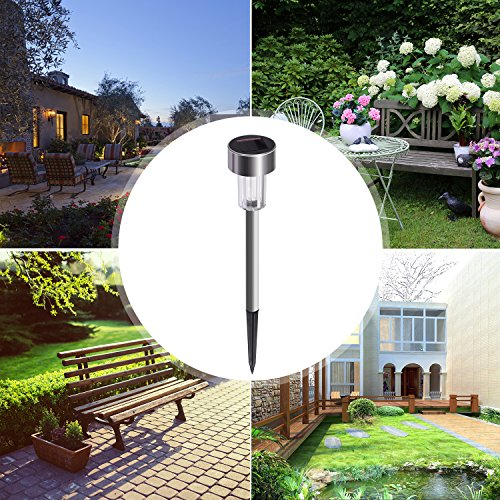 Led Landscape Lighting Cost: Sunnest 12-Pack Solar-Powered Led Pathway Lights, Outdoor