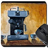 drink machin - MSD Suqare Mousepad 8x8 Inch Mouse Pads/Mat design 19590198 Modern coffee machine with cups painted on canvas with oil paints