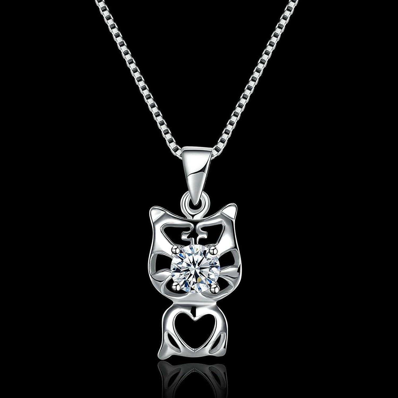 Gnzoe Jewelry 925 Silver Women Necklace White Friendship Chain 40+5CM