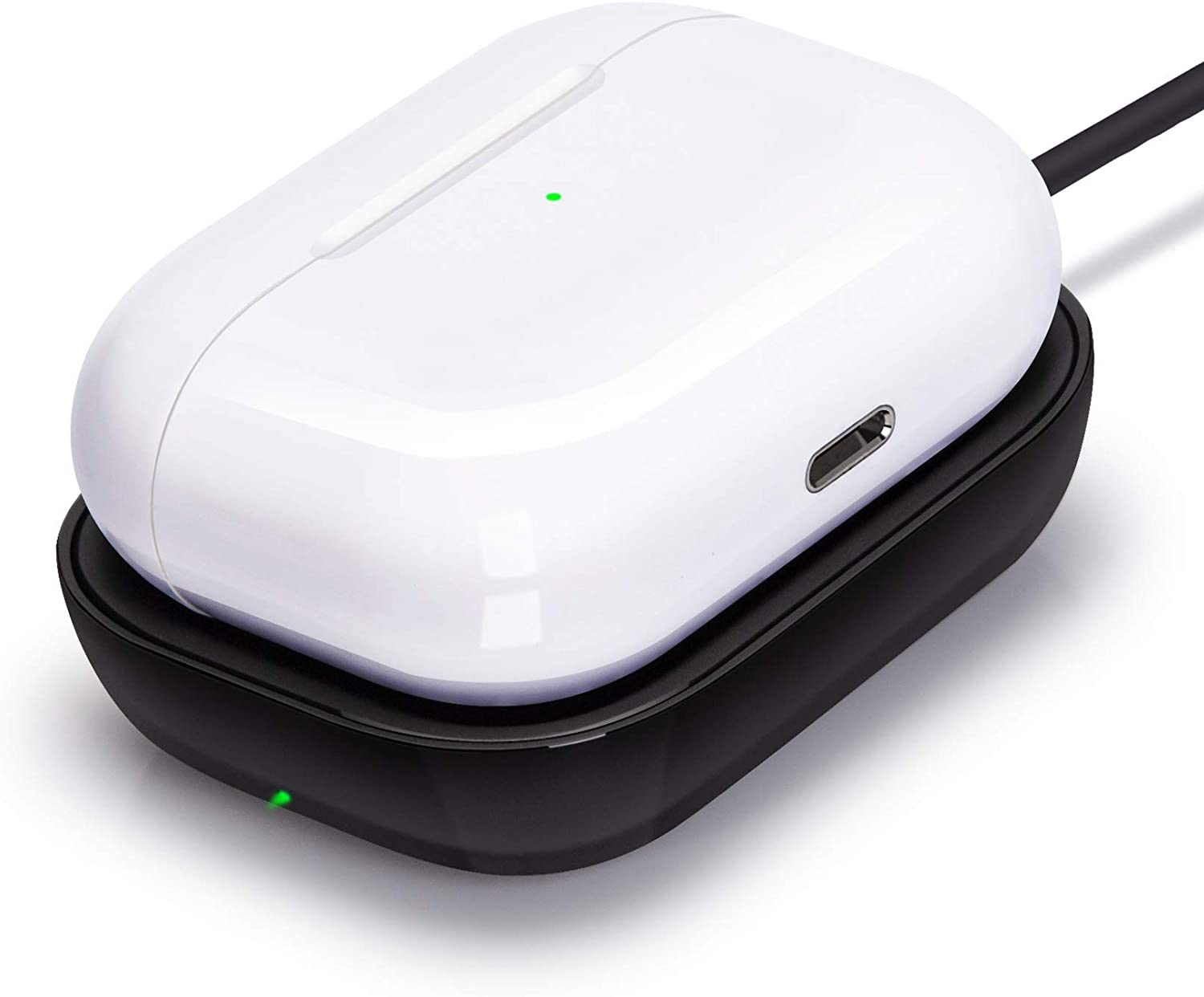 Airpods Pro Charger, Wireless Charger for Airpods/Airpods Pro Case, Wireless Charging Station for Apple Airpods Earbuds Wireless Charger Pad for Airpods Pro Earpods Black