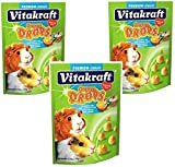 Vitakraft Guinea Pig Orange Drops Treat, 5.3oz Each - 3 Pack