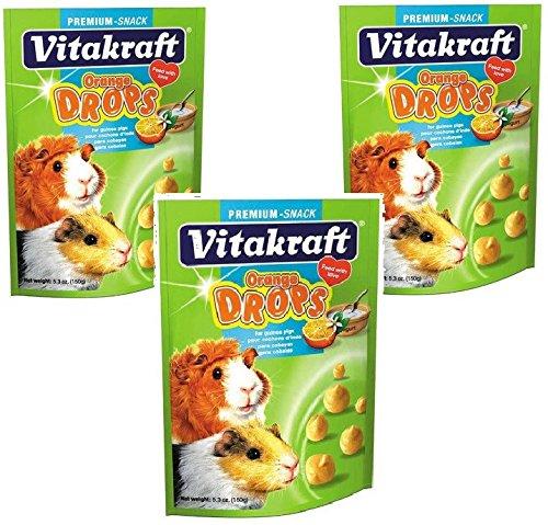 Vitakraft Guinea Pig Orange Drops Treat, 5.3oz Each - 3 PACK by Vitakraft