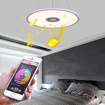 Colgando LED colorido de la música luz de techo, altavoz Bluetooth ...