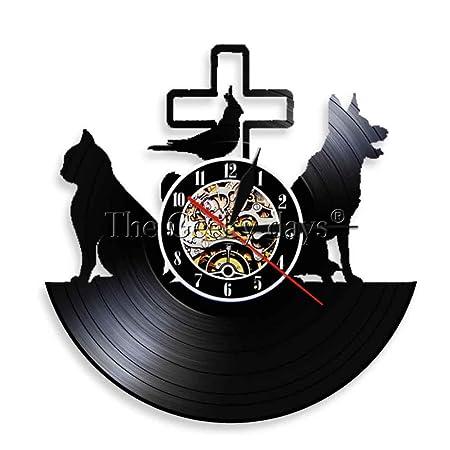 CHANGWW 1 unid Reloj de Pared para Perros y Gatos Clínica ...