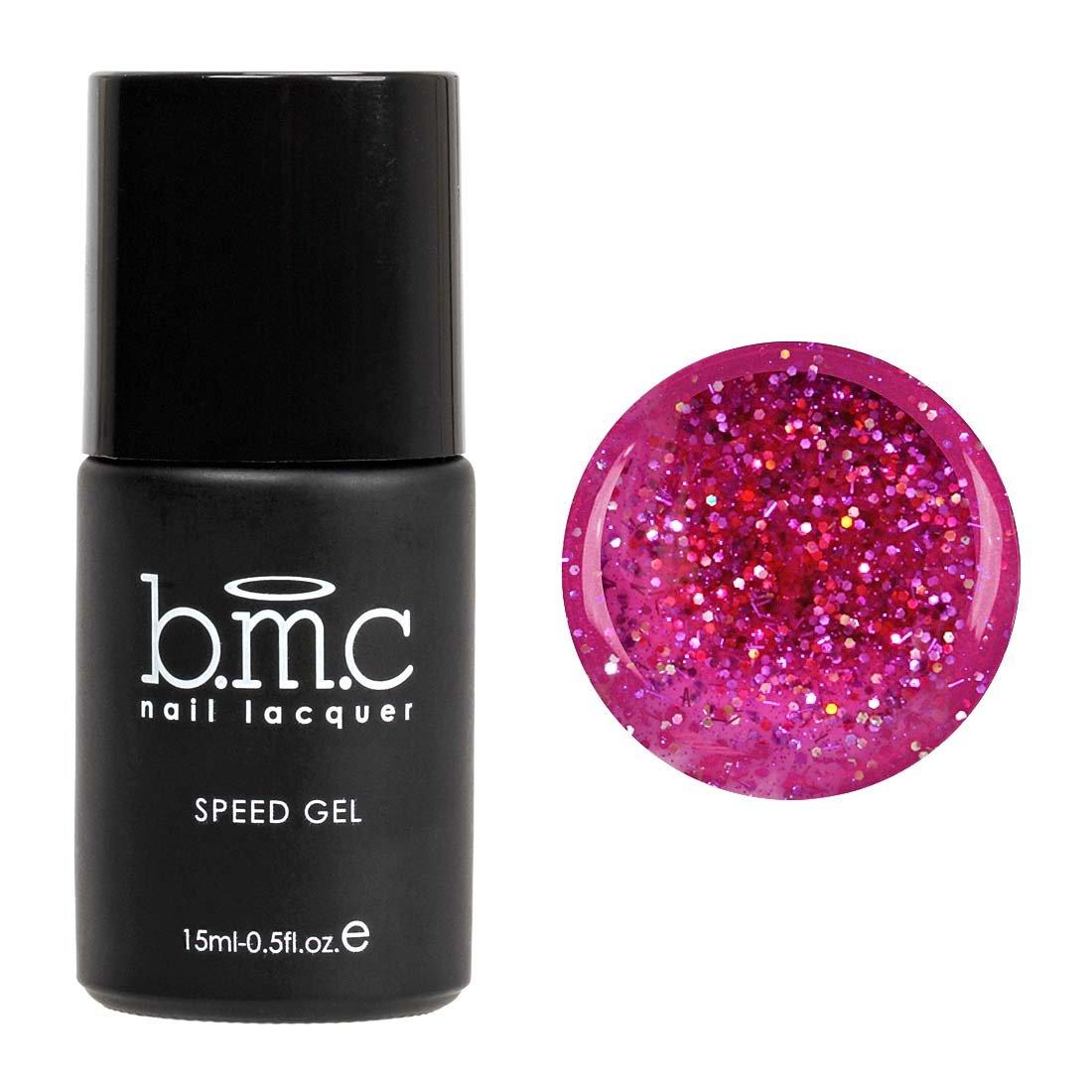 Amazon.com : BMC Super Dope Pearlescent Fuchsia Pink UV/LED Soak Off ...