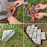 Metal Angleizer Template Tool, Adjustable Easy Angle Ruler Set, Angle Finder - Orange Premium Grade Aluminium Alloy, The Artistic Tradesman Company, Multi Angle Ruler for Any Angle