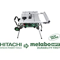 "Metabo HPT Table Saw, 10"" Blade, 35"" Rip Capacity, Fold & Roll Stand, 8 x 13/16"" Dado Capacity, (C10RJ)"