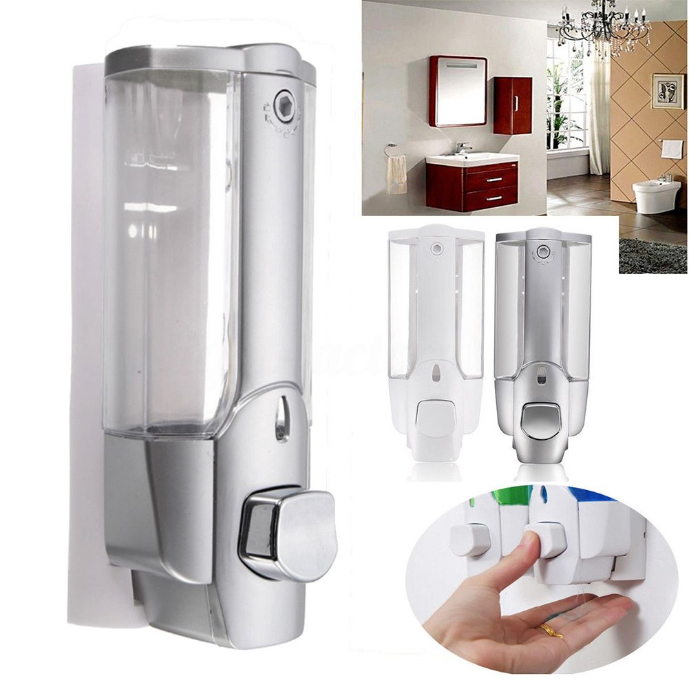 Amazon.com: New 350ml Plastic Liquid Soap Dispenser Wall Mount Sanitizer Dispensador for Kitchen Bathroom Shower Shampoo Vessel Container(White): Industrial ...